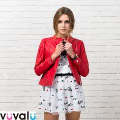 #ootd # cazadora polipiel niña junior con #falda gasa #Mayoral y camiseta a juego