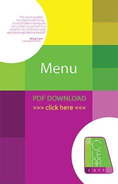 Clear Cafe Menu (PDF)