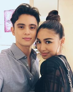 Tonight's shopping buddies here at the store launch. Cute Relationship Goals, Cute Relationships, Nadine Lustre Outfits, Movie Talk, James Reid, James Rodriguez, Jadine, Filipina, Sweet Couple