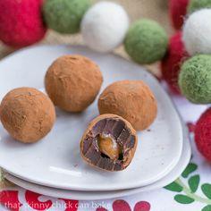 Caramel Filled Chocolate Truffles from Liz @ThatSkinnyChick Can Bake.