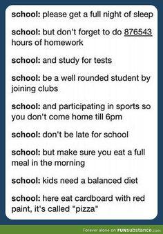 Oh, school