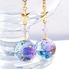 Great [★PSYCHE☆] Hoshi no Ji Pierced Earrings Re-sale - Women's Jewelry and Accessories-Women Fashion Kawaii Accessories, Kawaii Jewelry, Cute Jewelry, Diy Jewelry, Jewelery, Jewelry Accessories, Jewelry Making, Diy Resin Crafts, Magical Jewelry