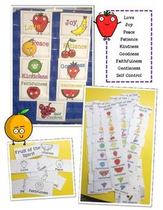 FRUIT OF THE SPIRIT UNIT BIBLE LESSON FOR KIDS - TeachersPayTeachers.com