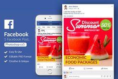Summer Beverages Facebook Post by Design Up on @creativemarket