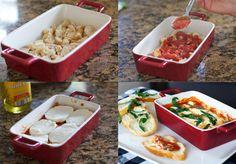 Cazuelita de pollo a la parmesana en 30 minutos