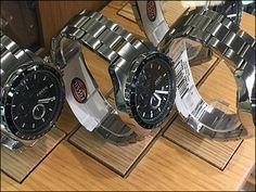 Fossil Plug-in Wood Watch Bases Main Dark Grey Background, Custom Caps, Wood Plugs, Hex Key, Visual Merchandising, Wood Watch, Omega Watch, Fossil, Wrist Watches