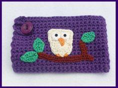 Purple crochet mug cozy