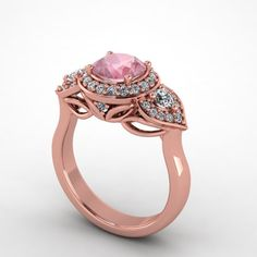 Beautiful diamond & pink sapphire ring at www.fabiandiamonds.com | Weddingbee Photo Gallery