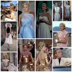 Grace Kelly in Edith Head-designed costumes in To Catch a Thief (1955)