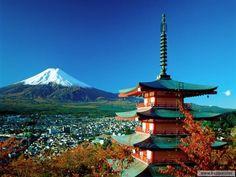 Print of Mount Fuji & Pagoda, Hakone, Honshu, Japan Monte Fuji, Japan Tourist Spots, Places To Travel, Places To See, Beautiful World, Beautiful Places, Beautiful Scenery, Amazing Places, Wonderful Places