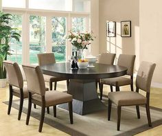 103571 Myrtle 7 Piece Set Dining Table 6 Dining Chairs New | $1599 SALE $1164.15 - FRIENDS DISCOUNTED PRICE $873.12