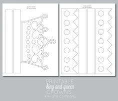 printable king and queen crowns at kiki and company.