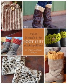 16 Free Boot Cuff Crochet Patterns compiled by www.daisycottagedesigns.net