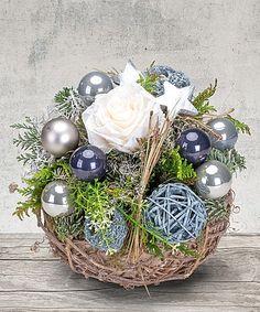 adventsgesteck weihnachtsstern im sterntopf jetzt bestellen bei valentins adventliche. Black Bedroom Furniture Sets. Home Design Ideas