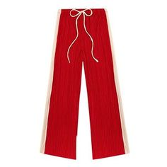 A merging of the wide leg, and sports tred. - Red, £42, urbanoutfitters.com
