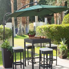 Make a beautiful oasis from the heat and sun with our Coral Coast Offset Umbrella . This large offset umbrella is just right by the pool or spa. Pergola Canopy, Pergola With Roof, Cheap Pergola, Covered Pergola, Pergola Shade, Pergola Plans, Pergola Cover, Diy Pergola, Pergola Ideas