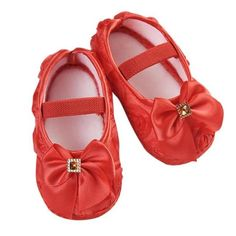 Practical Comfortable Princess Baby Party Dance Shoes Round Bling Soft Sole Infant Crib Shoes Bowknot Newborn Baby Girl Shoes Size 0-18 M Goods Of Every Description Are Available Mother & Kids First Walkers