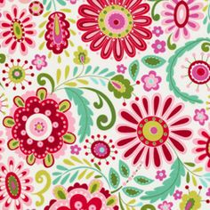 Manufacturer: Westminster / Free Spirit (PWDF158.Green) Designer: Dena Fishbein Collection: Love  Joy Print Name: Daisy in Green Horizontal repeat: 29.5 inches, Vertical repeat: 11.75 inches