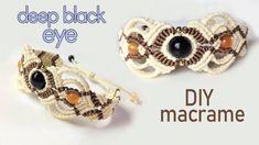 Macrame bracelet tutorial: The deep black eye - Beautiful handmade craft