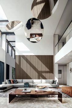 Luxury Loft, Modern Luxury, Luxury Homes, Classic Interior, Modern Interior, Interior Design, Interior Walls, Living Room Interior, Living Room Modern