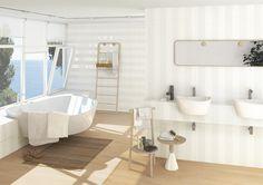 Producto: revestimiento INUIT, escenario: baños   VIVES Azulejos y Gres S.A.