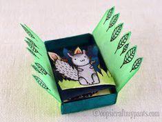 Oops, I Craft My Pants: Wicked Forest Altered Matchbox Matchbox Crafts, Matchbox Art, Tin Can Crafts, Easy Crafts For Kids, Origami, Altered Tins, Altered Art, Paper Art, Paper Crafts