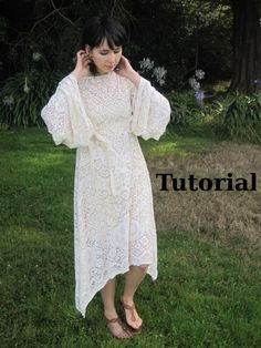 How to make an easy boho dress from a tablecloth, curtain, or sheet.