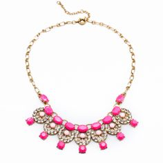 2014 New Fashion European and American Statement Necklace for Women Crystal Spring Color Shourouk Necklace $16.26