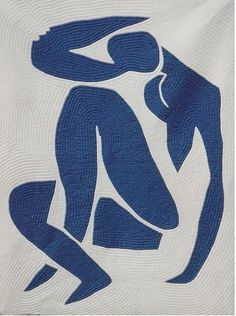 Blue Nude applique - WeddingQuilts.com Quilted Gifts, Henri Matisse, Disney Characters, Fictional Characters, Applique, Nude, Quilts, Inspiration, Inspired