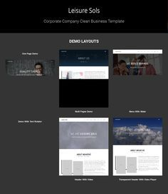 Leisure Sols is an advanced, responsive One Page Parallax Theme built with Bootstrap 3.3. You can use Leisure Sols for your projects, App or any other product promotion.
