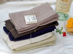 Hemp cloth napkins, set of 4 by aelldesign on Etsy. $28.00. Reusable and durable to the extreme. Made using a mix of different organic fibers, including hemp, cotton, and bamboo.