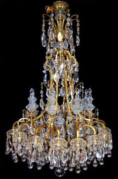 Spectacular 19th C. bronze and crystal chandelier. It was discovered in a closed 15000 sq. ft. 19th C. home on embassy row in Buenos Aires Argentina.