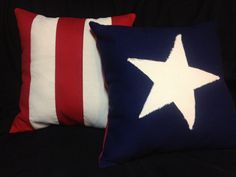 Canvas Pride. 18x18 indoor outdoor Canvas Pillow. Red white and blue. Flag. on Etsy, $30.00