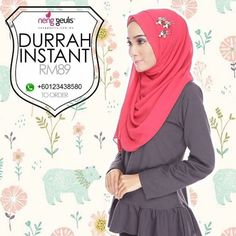 Durrah Instant Shawl by Neng Geulis Hijab on Carousell