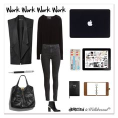 """""""Work Work Work Work"""" by beingsilly on Polyvore featuring mode, Zara, H&M, Jimmy Choo, Moschino, Mulberry, Sloane Stationery en Silvana"""