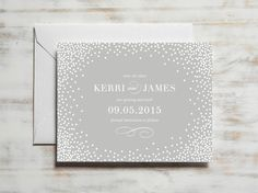 Confetti Save the Date Save the Date Card by DroletPaperie