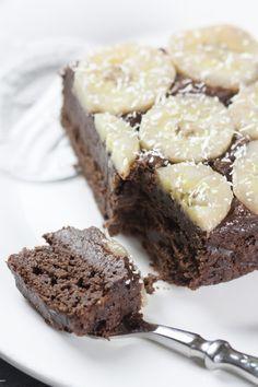 Fondant chocolat, banane, coco sans beurre