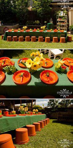 Fun & Creative Veggie Patch Birthday Party - Pretty My Party #veggie #gardener #birthday #party