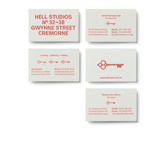 Hell Studios business cards by The Company You Keep Business Cards Layout, Business Card Design, Leaflet Layout, The Company You Keep, Web Portfolio, Bussiness Card, Print Packaging, Brand Guidelines, Typography Logo