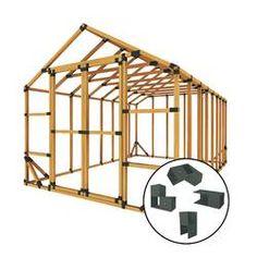 2x4 Basics Barn Roof Enclosure Kit (BRACKETS ONLY) & Reviews | Wayfair Storage Shed Kits, Wood Storage Sheds, Garden Storage Shed, Wooden Sheds, Firewood Storage, Small Shed Plans, Wood Shed Plans, Shed Building Plans, Diy Shed Plans
