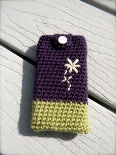 Crochet Cell Phone Case. $10.00, via Etsy.