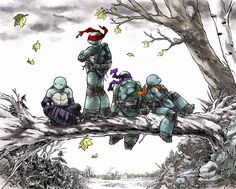 so i decided to color an awesome tmnt pic by greatLP. Amazing line art by colors by me Tmnt Ninja Turtles, Mutant, Comic Art, Teenage Mutant Ninja Turtles Art, Turtle Art, Animation, Art, Cartoon, Tmnt