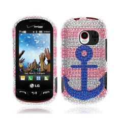 NextKin Bling Crystal Full Rhinestones Diamond Case Protector For LG Extravert VN271, Blue Anchor On Pink White NEXTKIN,http://www.amazon.com/dp/B00I0QYW50/ref=cm_sw_r_pi_dp_1omjtb08DFMBSW3W