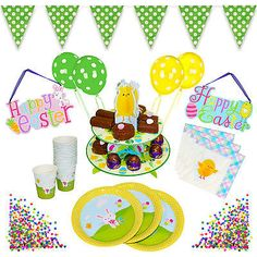 Complete spring #easter bunny chick party tableware set - #plates, cups, #napkins,  View more on the LINK: http://www.zeppy.io/product/gb/2/281960087831/
