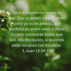 Juan 13:34,35