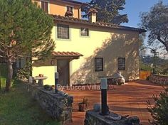 About 4km north of Lucca, country house, in Tuscany hills. www.lucaevillas.it