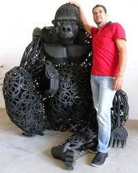 """""""O Grito do Bicho"""": Artista plástico que transforma sucata em animais ..."""