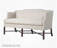 Fine Furniture Frederik Settee | Formal sitting room or master bedroom