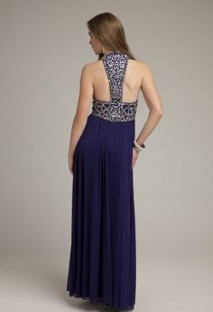 Prom Dresses 2013 - Long Mesh Racer Back Prom Dress from Camille La Vie and Group USA