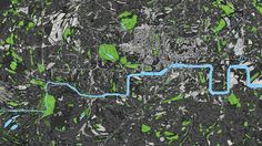 This map of what London would look like if Harry Beck's tube map actually showed the right shape. | 18 Beautiful And Weird Maps That Will Change How You Think About London